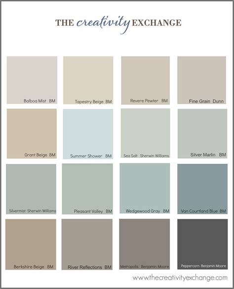 popular color palettes the most popular paint colors on pinterest