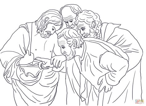 coloring page for doubting thomas doubting thomas coloring page free printable coloring pages