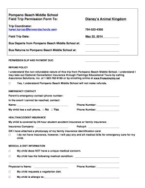 section 351 statement template field trip permission slip pdf forms and templates