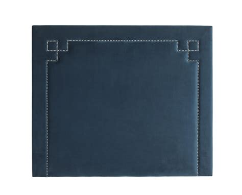 truman roche blue velvet headboard shop now