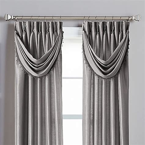 pinch pleat drapes bed bath and beyond buy spellbound pinch pleat crescent valance in pewter from