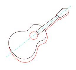 Acoustic Guitar Outline Drawing by Acoustic Guitar Drawing