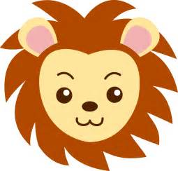 Face of a cute lion free clip art
