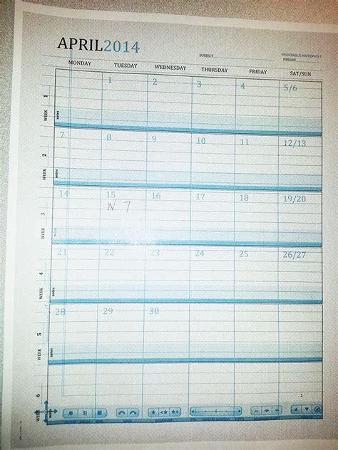 How To Make A Paper Calendar - create a talking calendar with the livescribe smartpen