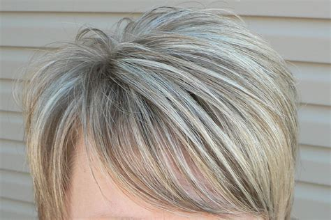 doing low lights on gray hair doing low lights on gray hair blending the gray grey