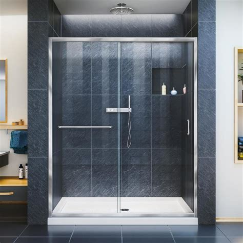 30 shower door shop dreamline infinity z 56 in to 60 in frameless chrome