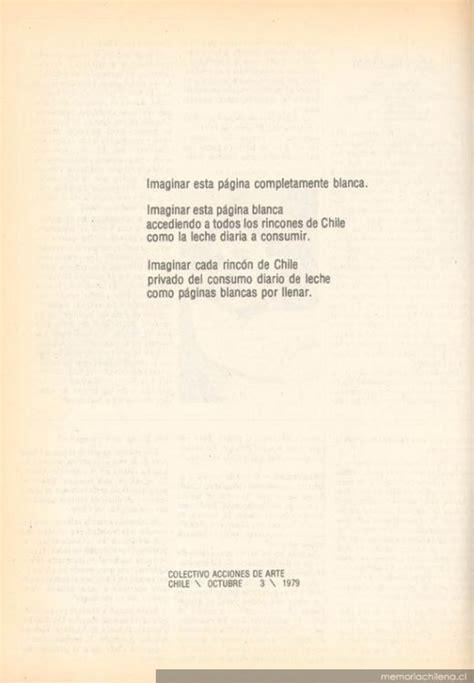 libro nacemos para no morir quot para no morir de hambre en el arte quot acci 243 n del cada revista hoy 1979 memoria chilena