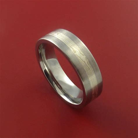 Anting Ring Titanium Silver 1 titanium silver and mokume ring custom made to any size 3 to 22 stonebrook jewelry