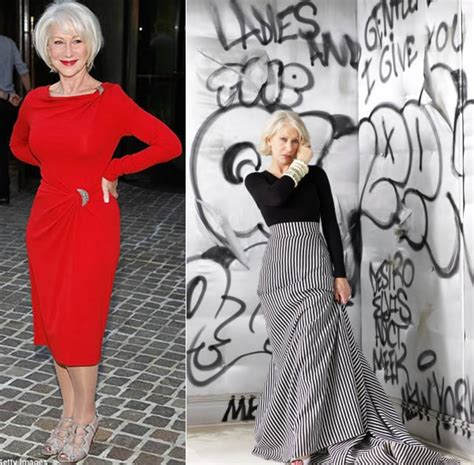 dressing style at the age of 44 for ladies style icon helen mirren possibly the best dresses women