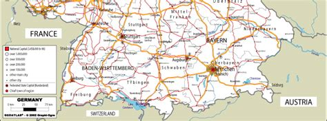 map south germany map of southern germany my