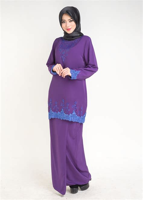 Baju Cp Pusple Hitam baju kurung moden saffiya plus size purple lovelysuri