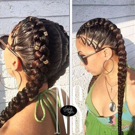 two colour sided conrow hairstyles 50 ghana braids styles herinterest com