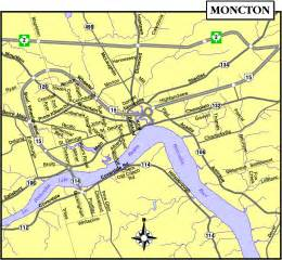 moncton map and moncton satellite image