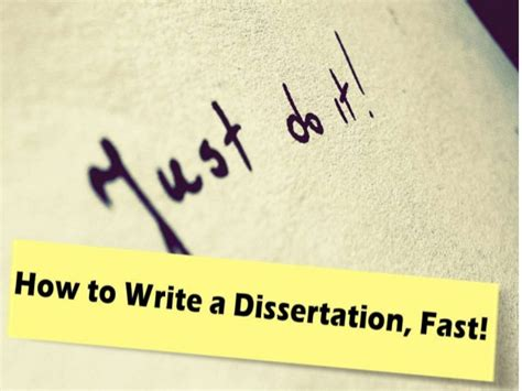 How To Write Essay Fast by How To Write A Dissertation Fast