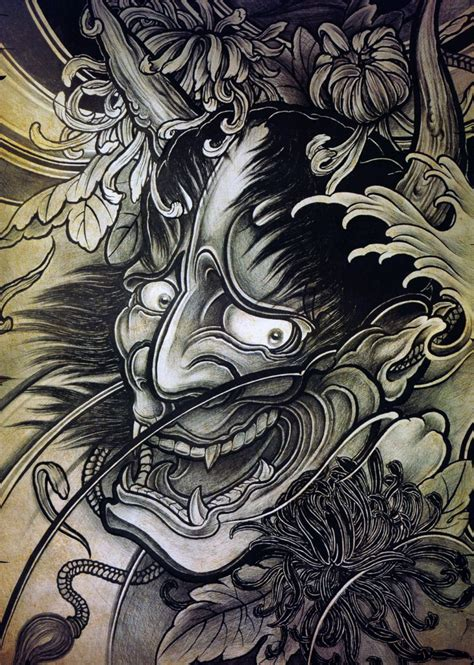 japanese mask tattoo design japanese hannya tattoos origins meanings ideas tatring
