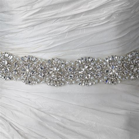 rhinestone beaded pearl bridal belt 314 sash