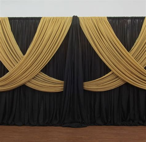 Criss Cross Curtains Premium Criss Cross Curtain 2 Panel Backdrop Height 7 12ft