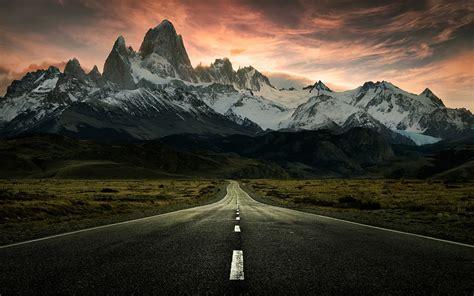 Mountain To Mountain road to mountains alaska hdwallpaperfx