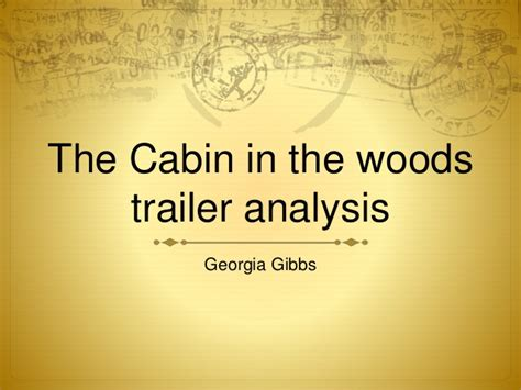Cabin In The Woods Analysis by Cabin In Woods