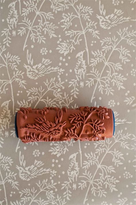 damask patterned paint roller no 27 from paint courage no 1 patterned paint roller from the painted house