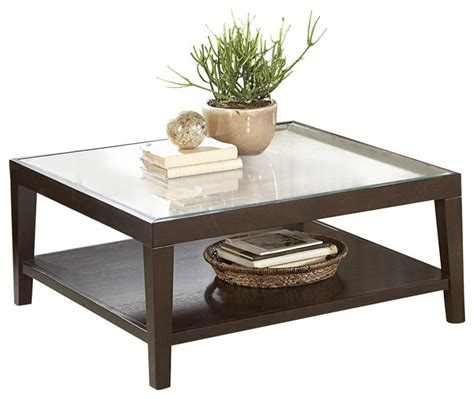 square wood and glass coffee table homelegance vincent square wood cocktail table with glass