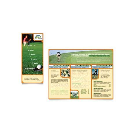 brochure template publisher 10 microsoft publisher brochure golf template options
