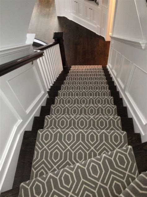 geometric pattern carpet for stairs geometric stair runner modern new york by michelle