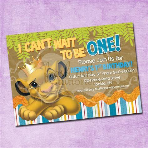 king birthday card template simba king birthday invitation