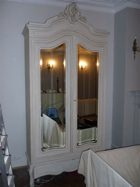 painted armoire wardrobe antique french cream painted double armoire wardrobe hall