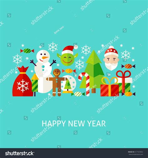 new year greeting posters happy new year greeting concept poster stock vector