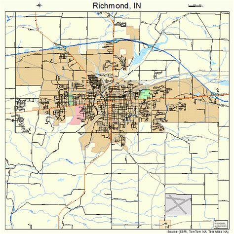 Richmond Indiana richmond indiana map 1864260