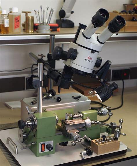 watchmakers lathe  lecia stereoscopic microscope