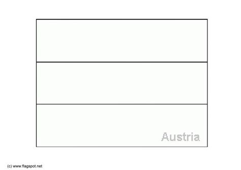 coloring page flag austria img 6158