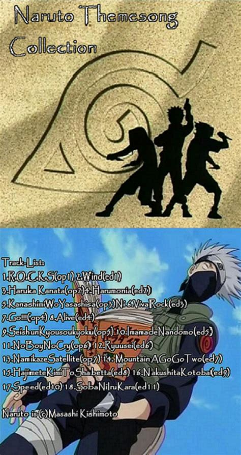 theme songs naruto naruto themesong collection by rhythm wily on deviantart