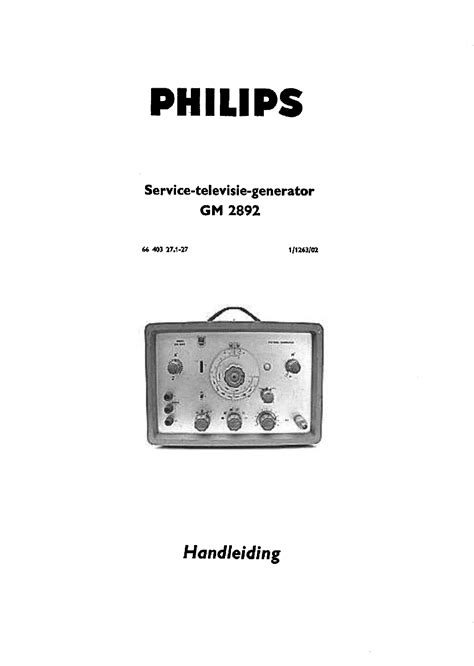 pattern generator in tv philips gm2892 tv pattern generator nl sm service manual