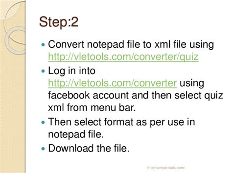 format xml file in notepad steps to create online exam in moodle letrails com