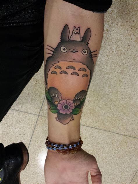 treated myself to a tattoo of totoro one of my favorite