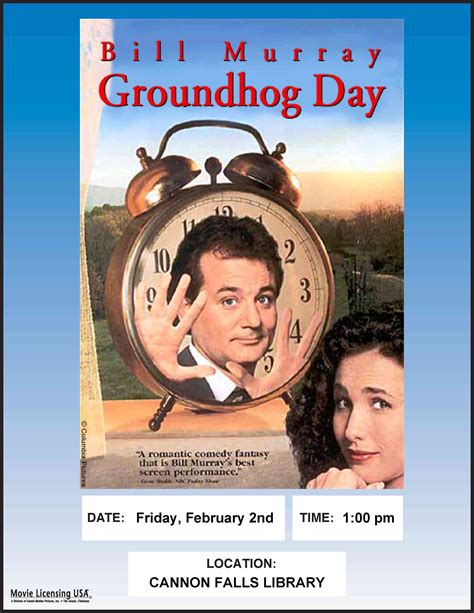 groundhog day day one lyrics groundhog day feb 2nd cannon falls library