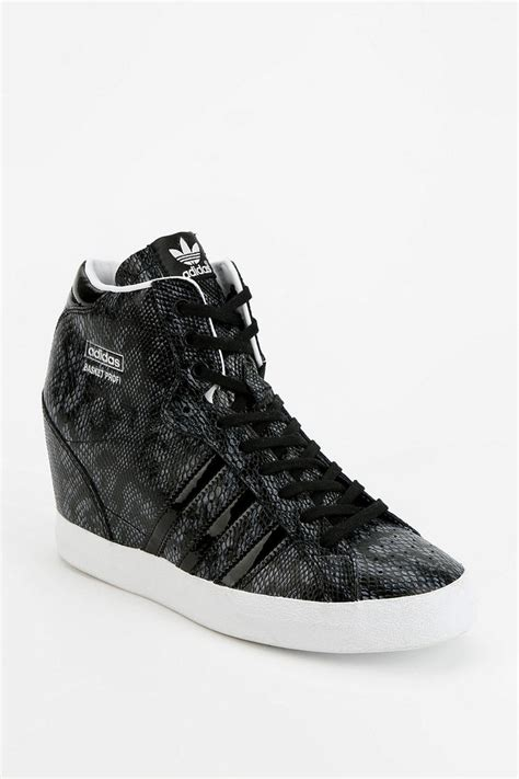 adidas high top wedge sneakers lyst outfitters adidas basket snakeskin