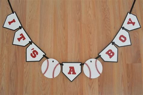 Baby Shower Baseball Theme Decorations by Baseball It S A Boy Banner Baseball Theme Baseball