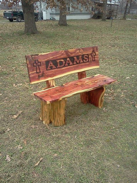 cedar log bench wood furniture pinterest cedar name bench adams chainsaw art and art by other friends pinterest names my