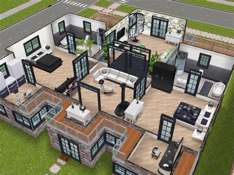 house layout sims house 75 remodelled player designed house level 2 sims