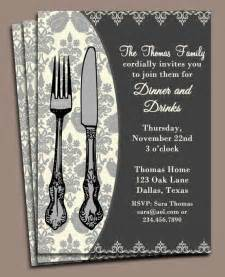 dinner invitation printable or printed with free shipping
