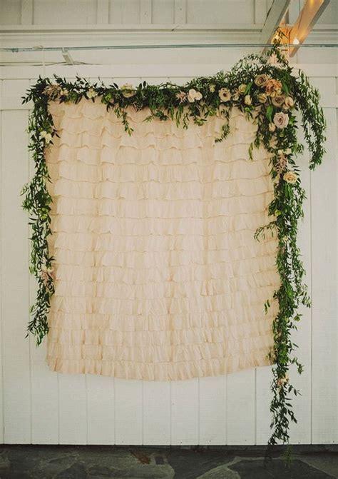 photo booth wedding backdrop ideas oosile floral garland ceremony backdrop wedding ideas