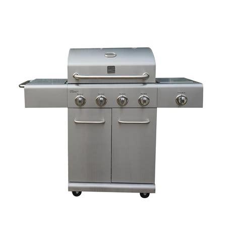 kenmore 4 burner stainless steel kenmore 4 burner plus side burner stainless steel grill pg