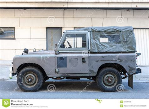 old black land rover old land rover editorial stock photo image 58490158