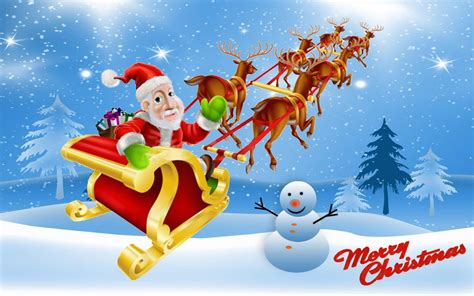 christmas santa claus sleigh gifts deer winter full hd wallpapers  wallpaperscom