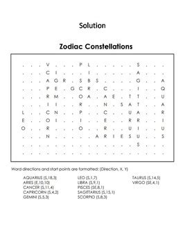 zodiac word search printable the zodiac constellations activity word search space
