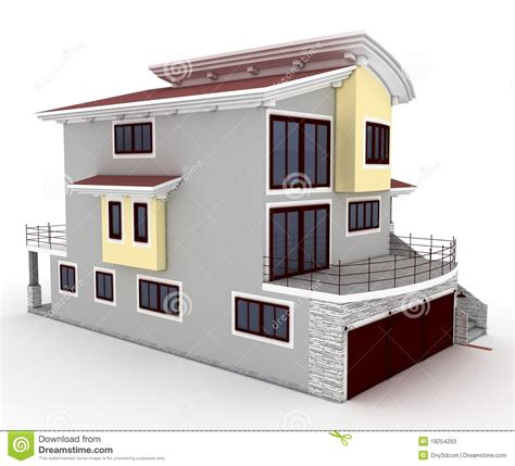 Home Design 3d Unlocked by 3d House Isolated On White Stock Illustration Image Of