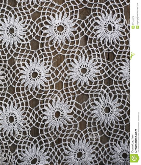 Handmade Pattern - handmade crochet tablecloth pattern stock photo image